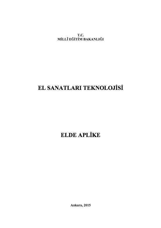 Elde Aplike ders notu pdf