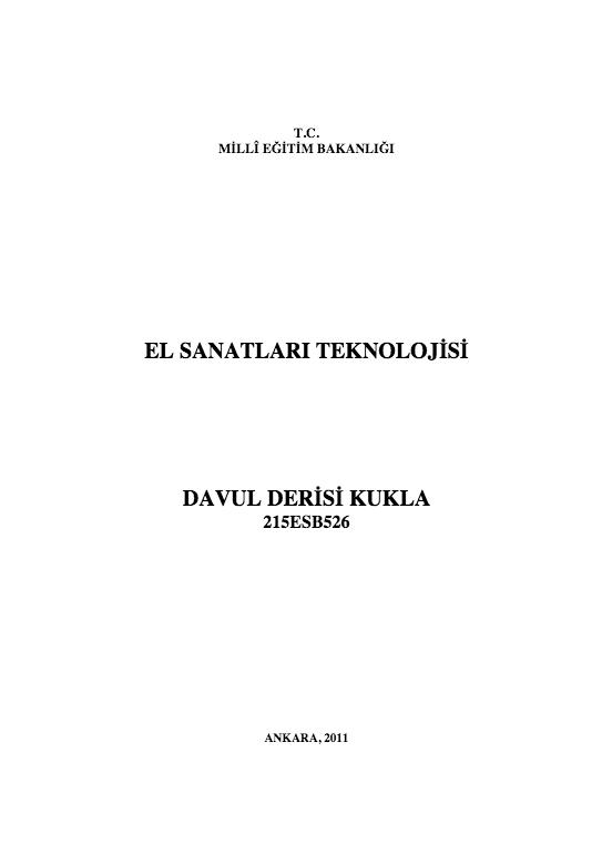 Davul Derisi Kukla ders notu pdf