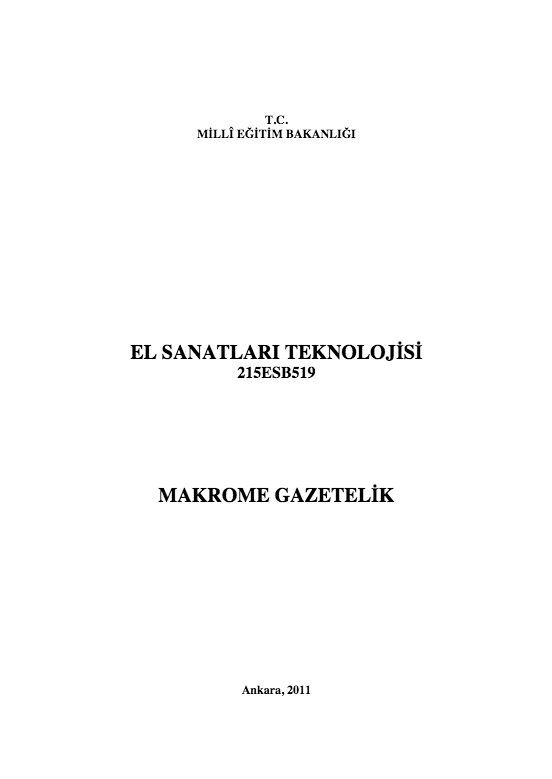 Makrome Gazetelik ders notu pdf