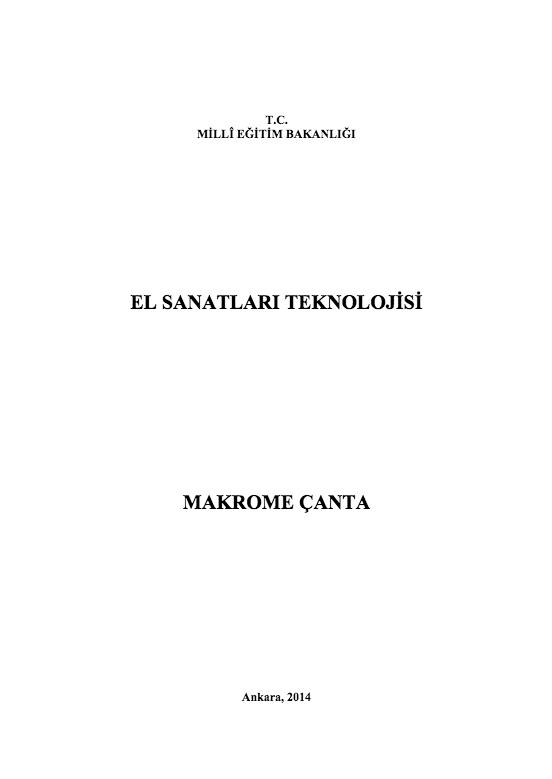Makrome Çanta ders notu pdf