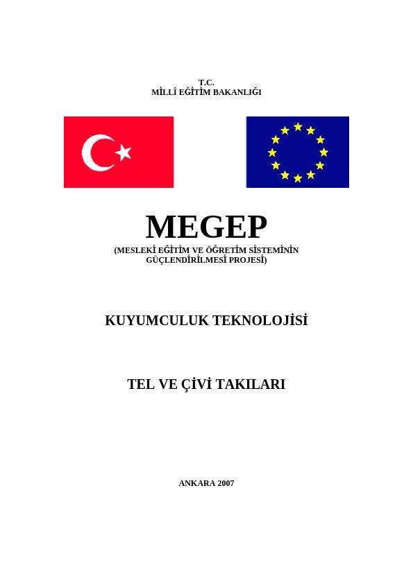 Tel Ve Çivi Takıları ders notu pdf