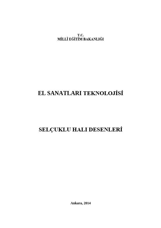 Selçuklu Halı Desenleri ders notu pdf