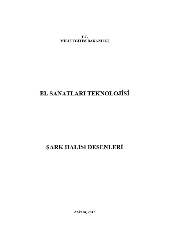 Şark Halısı Desenleri ders notu pdf