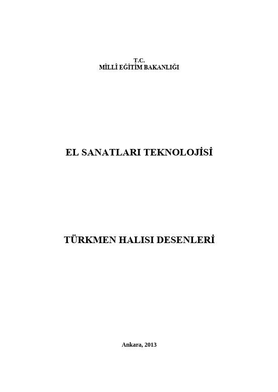 Türkmen Halı Desenleri ders notu pdf