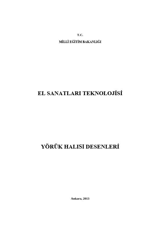 Yörük Halısı Desenleri ders notu pdf