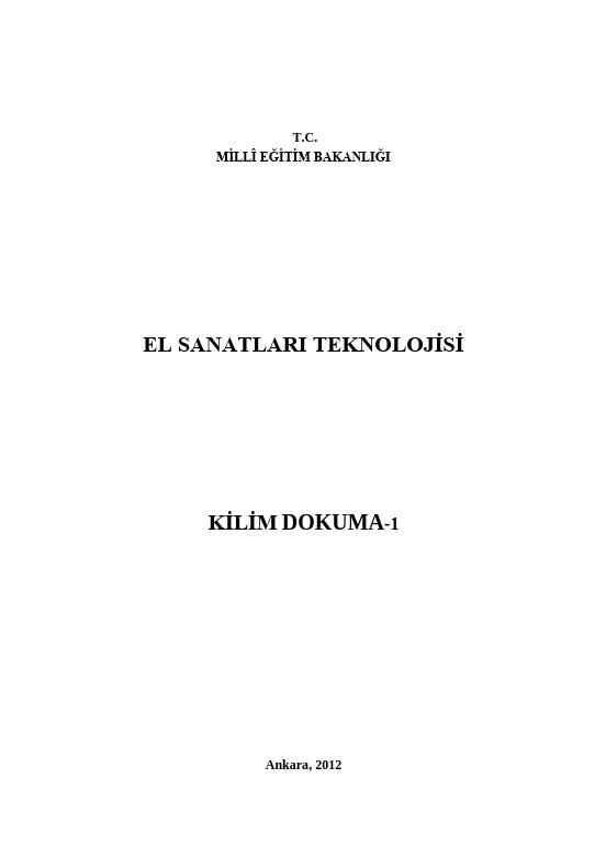 Kilim Dokuma -1