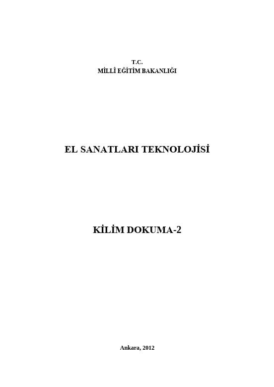 Kilim Dokuma-2