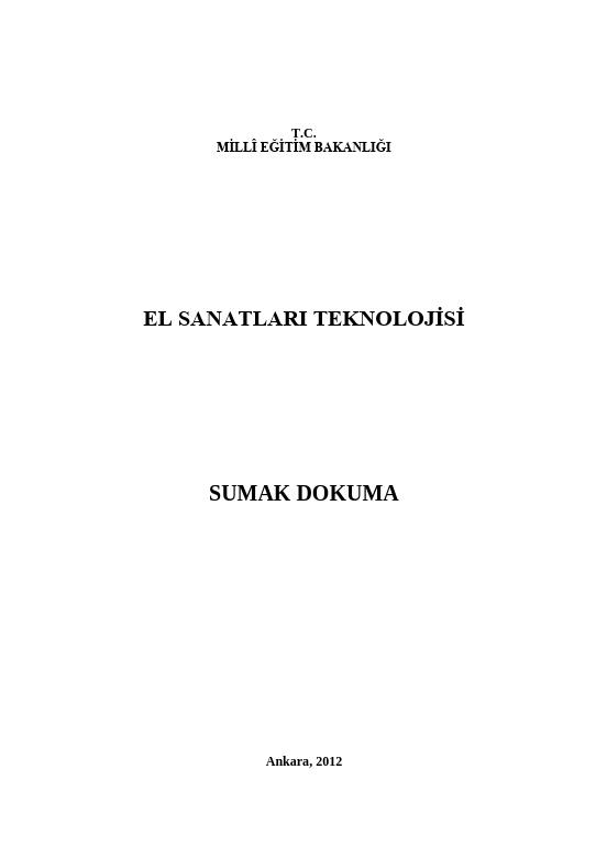 Sumak Dokuma