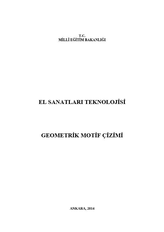 Geometrik Motif Çizimi ders notu pdf