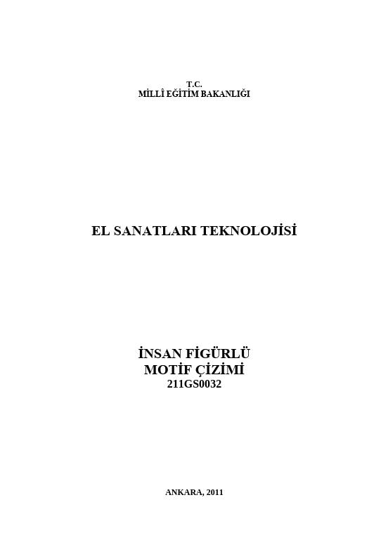 İnsan Figürlü  Motif Çizimi ders notu pdf
