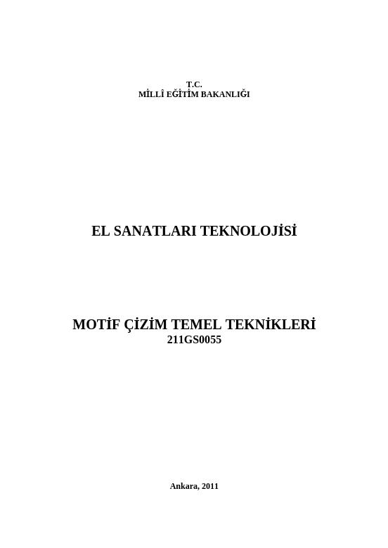 Motif Çizim Temel Teknikleri ders notu pdf