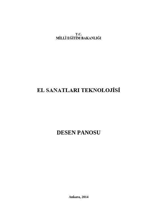 Desen Panosu ders notu pdf