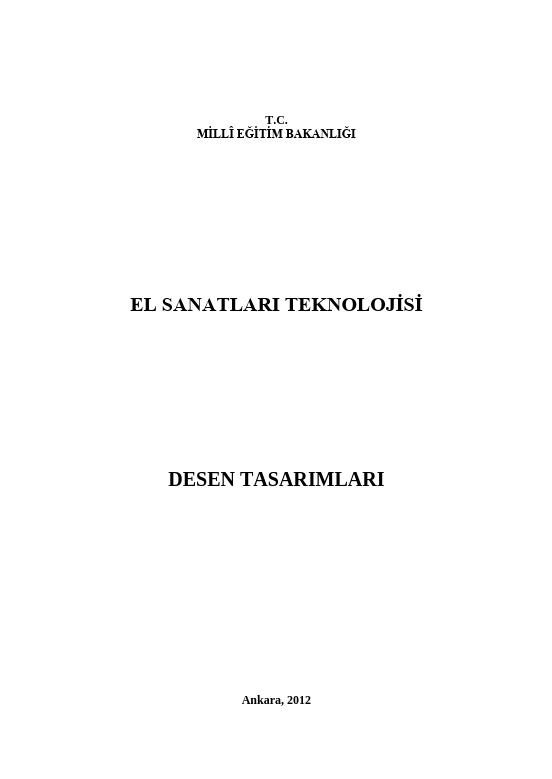 Desen Tasarımları ders notu pdf