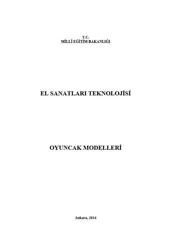 Oyuncak Modelleri ders notu pdf