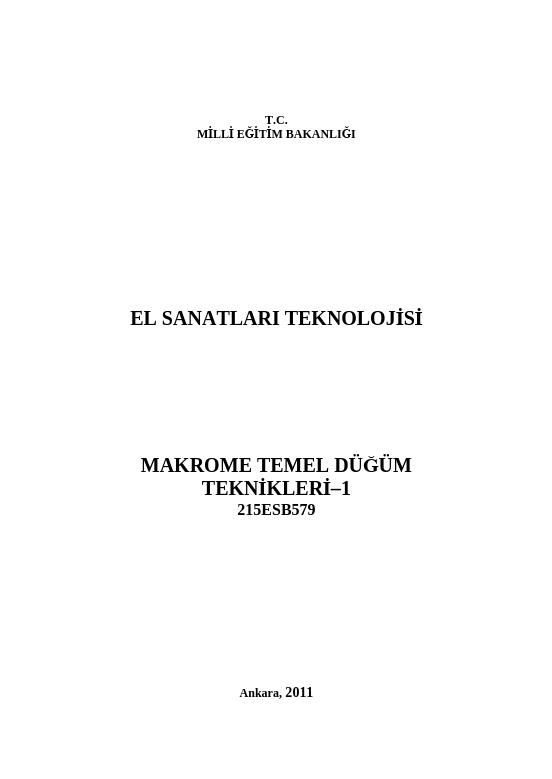 Makrome Temel Düğüm Teknikleri-1 ders notu pdf
