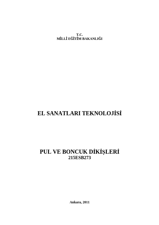 Pul Ve Boncuk Dikişleri ders notu pdf