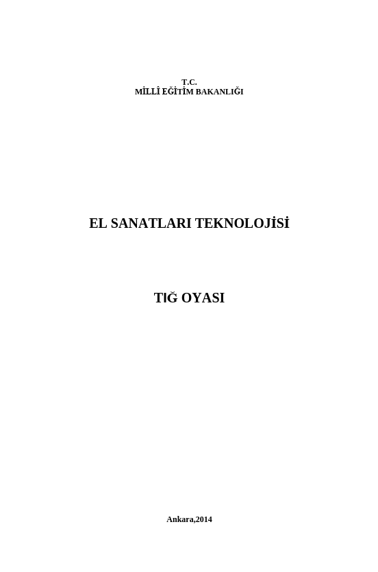Tığ Oyası ders notu pdf