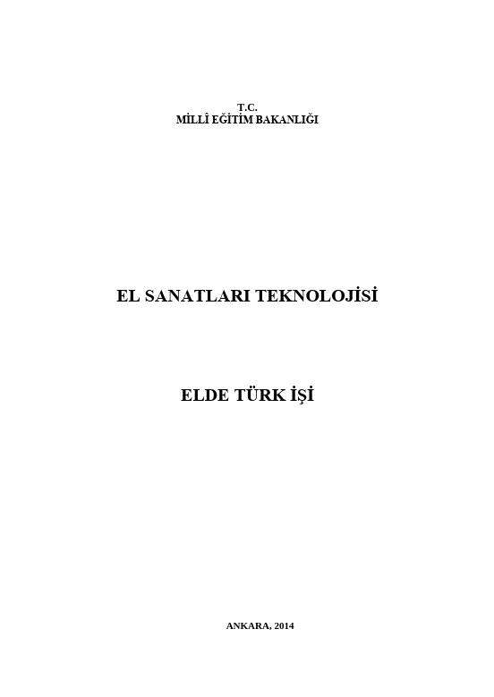 Elde Türk İşi