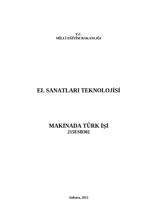 Makinede Türk İşi