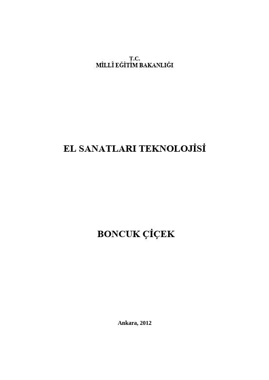 Boncuk Çiçek ders notu pdf