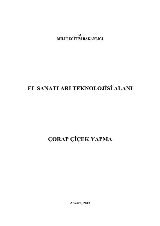 Çorap Çiçek ders notu pdf