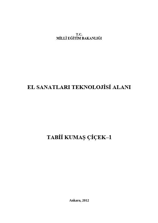 Tabii Kumaş Çiçek -1 ders notu pdf