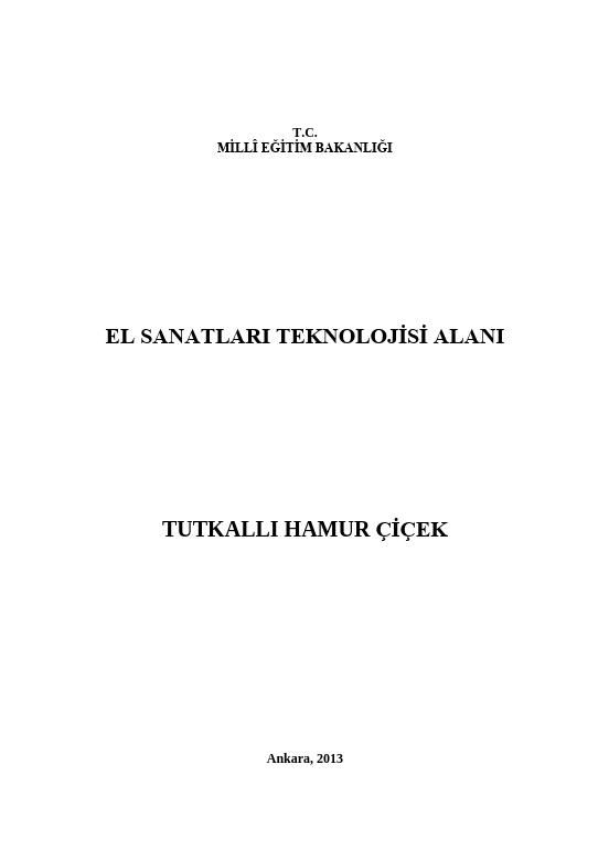 Tutkallı Hamur Çiçek ders notu pdf