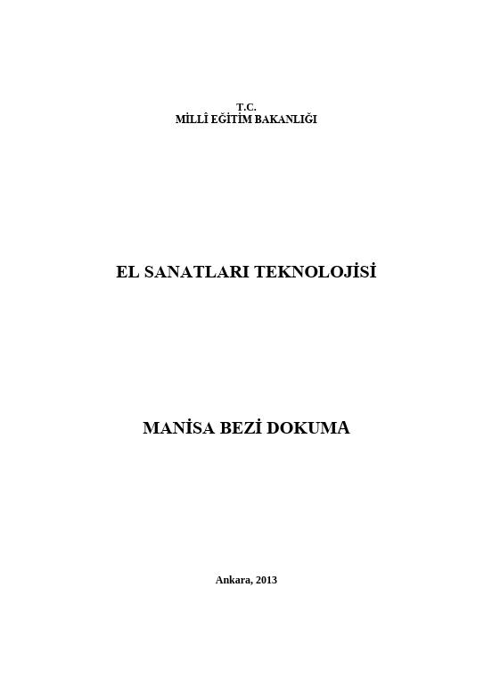 Manisa Bezi Dokuma