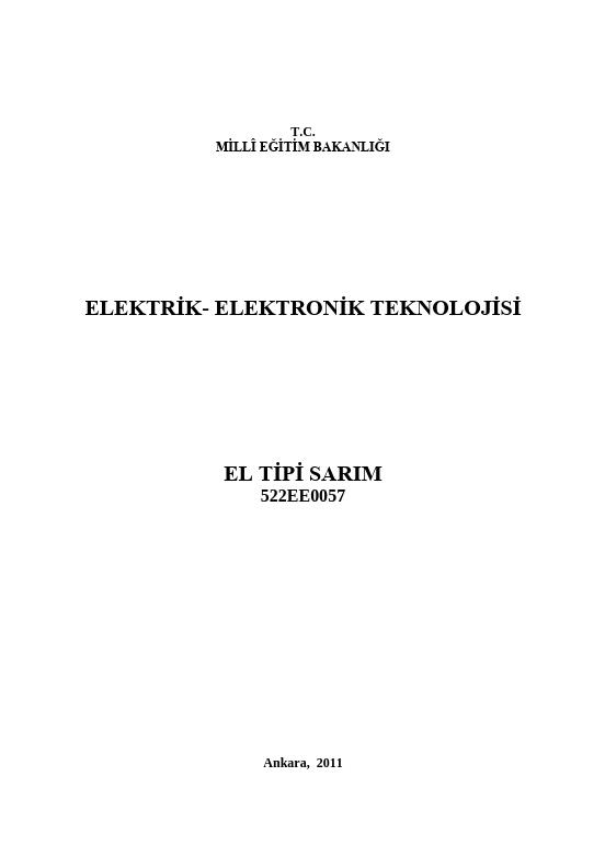 El Tipi Sarım ders notu pdf