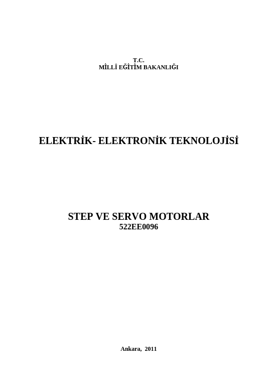 Step-servo Motorlar