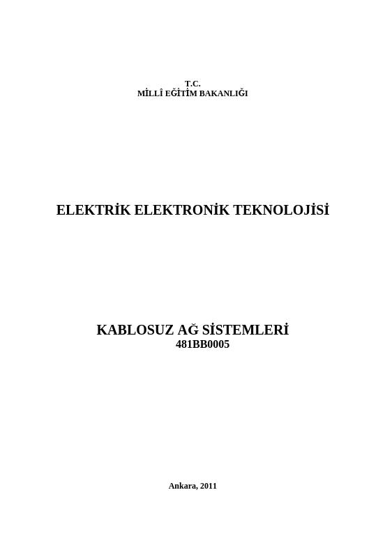 Kablosuz Ağ Sistemleri