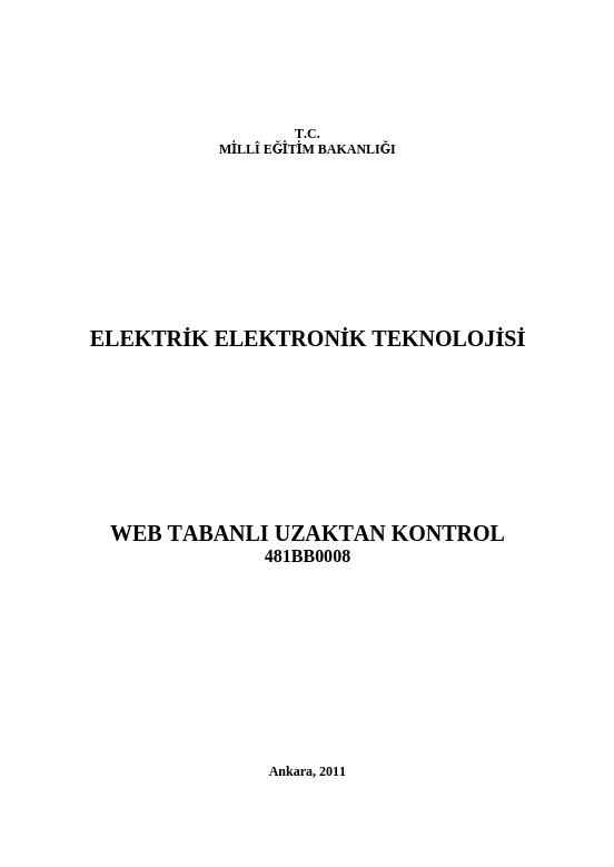 Web Tabanlı Uzaktan Kontrol