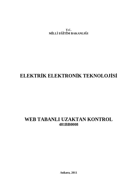 Web Tabanlı Uzaktan Kontrol ders notu pdf