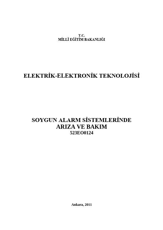 Soygun Alarm Sistemlerinde Arıza Ve Bakım