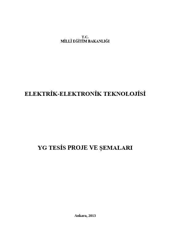 Yg Tesis Proje Ve Şemaları ders notu pdf