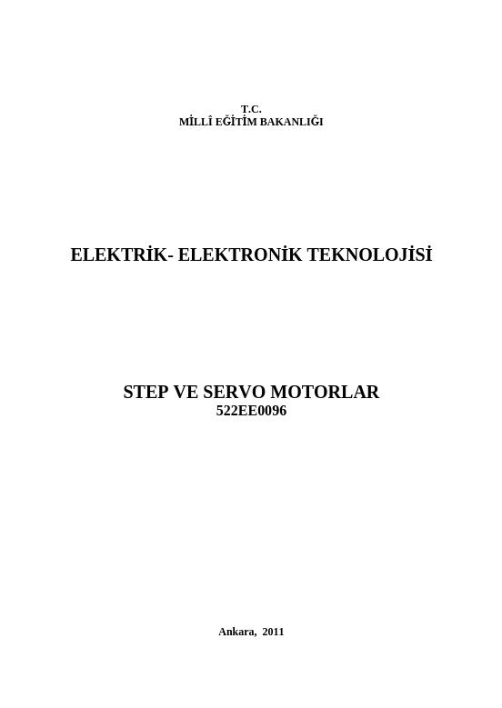 Step-servo Motorlar ders notu pdf