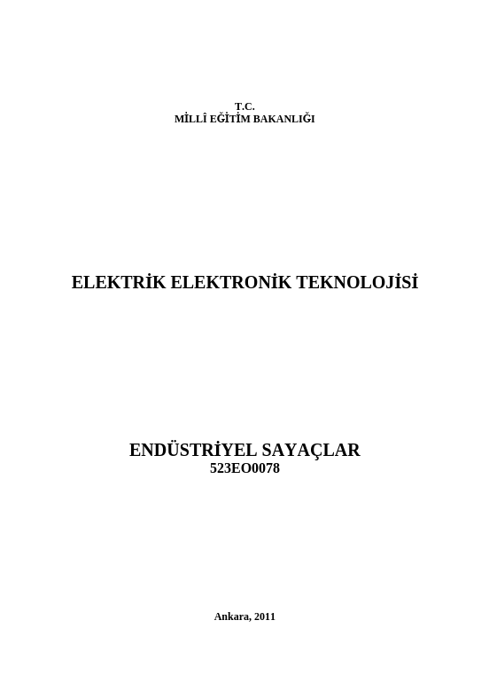 Endüstriyel Sayaçlar ders notu pdf