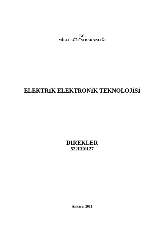 Direkler ders notu pdf