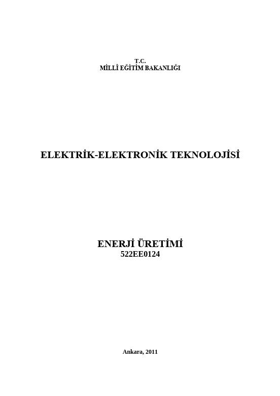 Enerji Üretimi ders notu pdf