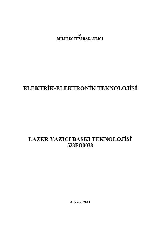Lazer Yazıcı Baskı Teknolojisi ders notu pdf