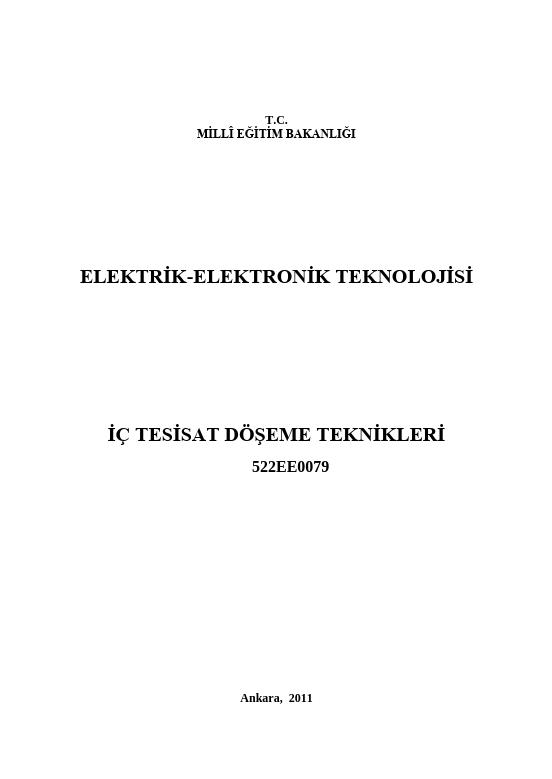 İç Tesisat Döşeme Teknikleri ders notu pdf