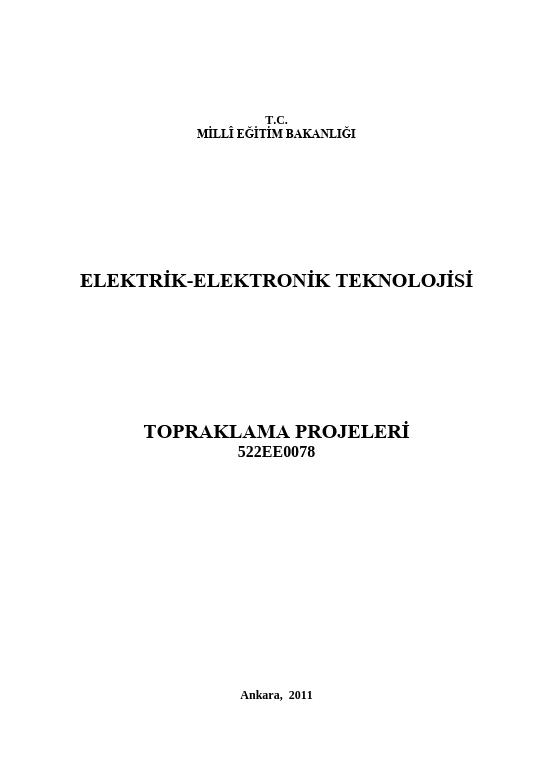Topraklama Projeleri ders notu pdf