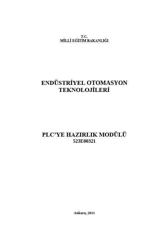 Plc ye Hazırlık ders notu pdf