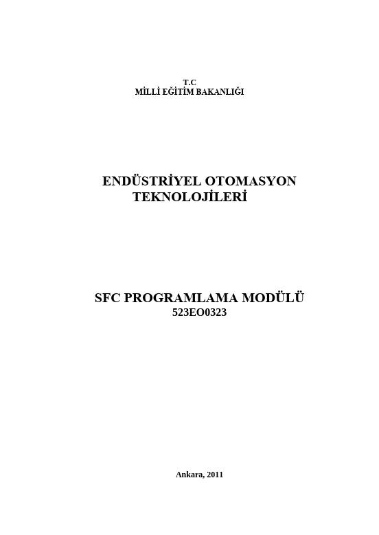 Sfc Programlama ders notu pdf