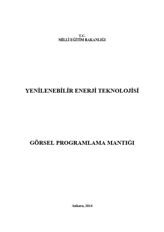 Görsel Programlama Mantığı ders notu pdf