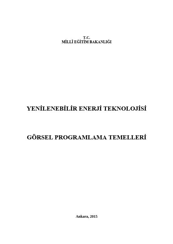 Görsel Programlama Temelleri ders notu pdf