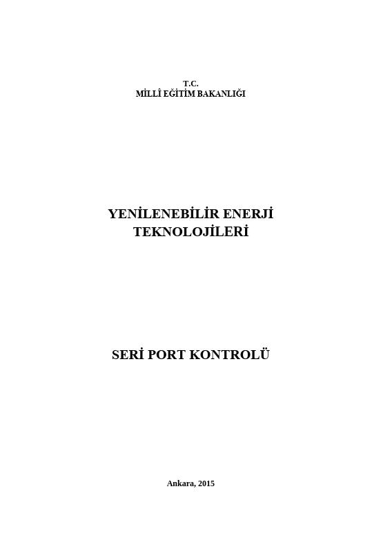 Seri Port Kontrolü ders notu pdf