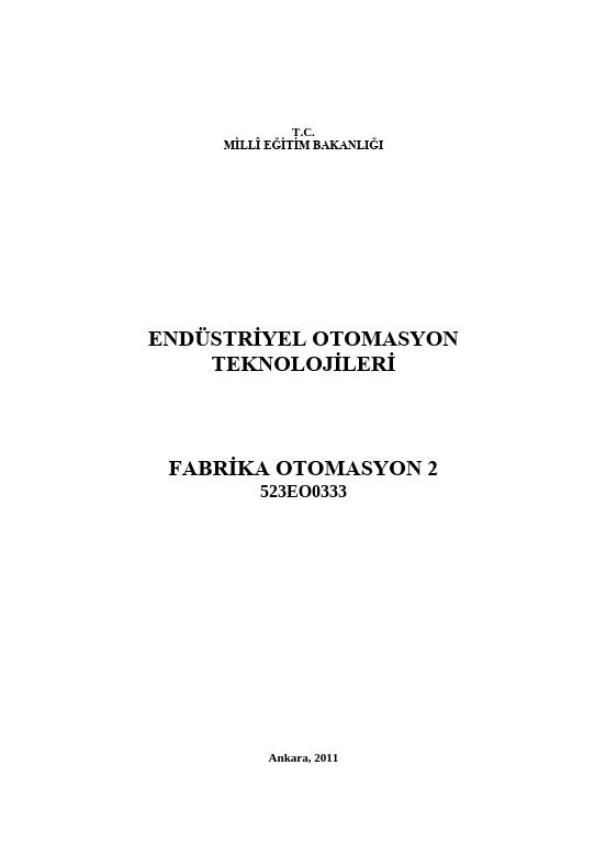 Fabrika Otomasyon 2 ders notu pdf