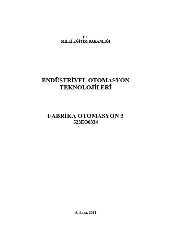 Fabrika Otomasyon 3 ders notu pdf