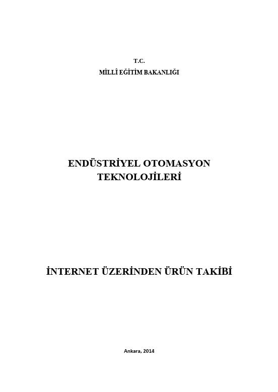 İnternet Üzerinden Ürün Takibi